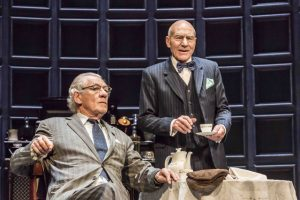 The National Theatre's production of No Man's Land with Ian McKellen and Patrick Stewart. Photo credit: Johan Persson