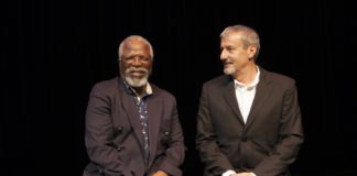 Dawid Minaar and John Kani (Photographer: Brett Rubin)
