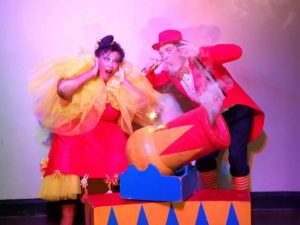 Marveen Charles and Kobus Rousseau in The Fantastical Flea Circus (Photo by Riaan Timson)
