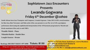 Lwanda Gogwana at Sophiatown Jazz Encounters